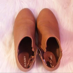 Old Navy Tan Booties